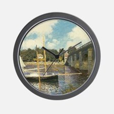 Highway Bridge by Claude Monet Wall Clock
