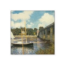 "Highway Bridge by Claude Mo Square Sticker 3"" x 3"""