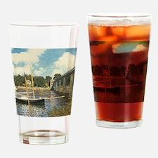 Highway Bridge by Claude Monet Drinking Glass