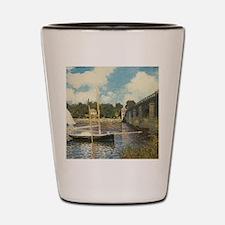 Highway Bridge by Claude Monet Shot Glass