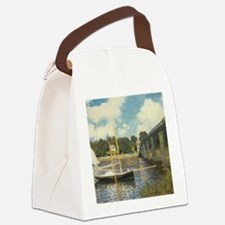 Highway Bridge by Claude Monet Canvas Lunch Bag