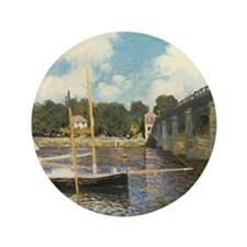 "Highway Bridge by Claude Monet 3.5"" Button"