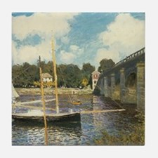Highway Bridge by Claude Monet Tile Coaster