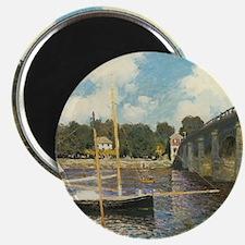 Highway Bridge by Claude Monet Magnet