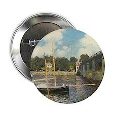 "Highway Bridge by Claude Monet 2.25"" Button"