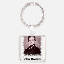 John Brown w text Keychains