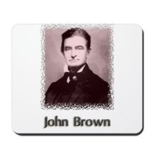 John Brown w text Mousepad