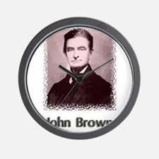 John Brown w text Wall Clock