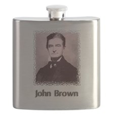 John Brown w text Flask