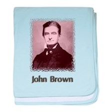 John Brown w text baby blanket