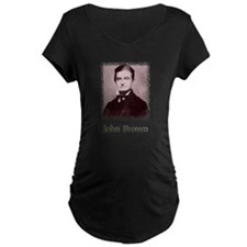 John Brown w text Maternity T-Shirt