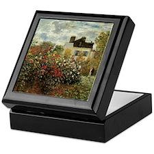 Claude Monet's Garden at Argenteuil Keepsake Box