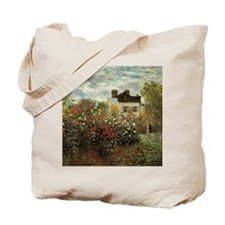 Claude Monet's Garden at Argenteuil Tote Bag