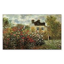 Claude Monet's Garden at Argen Decal