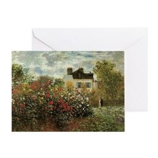 Claude Monet's Garden at Argenteuil Greeting Card