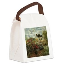 Claude Monet's Garden at Argenteu Canvas Lunch Bag