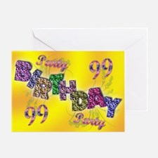 99th Birthday party invitation Greeting Card