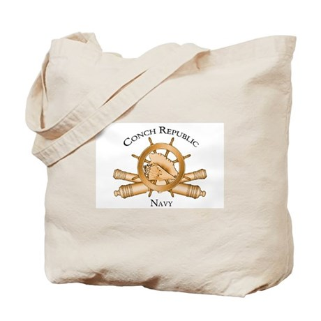 Official Conch Republic Navy Tote Bag