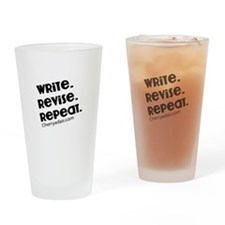 Write, Revise, Repeat Drinking Glass