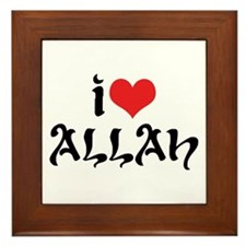 I Love Allah Framed Tile