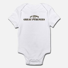 Great Pyrenees: Guarded by Infant Bodysuit
