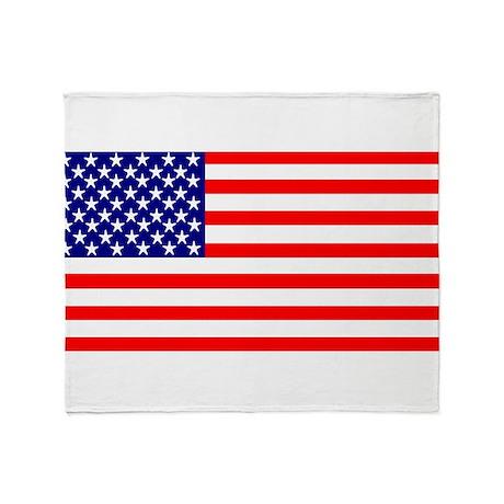 USA Flag Stars and Stripes Throw Blanket