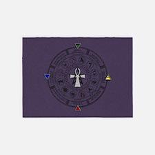 Wheel of the Year Zodiac Sabbats 5'x7'Area Rug