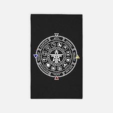Wheel of the Year Zodiac Sabbats 3'x5' Area Rug