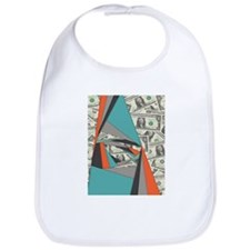 Colorful Currency Collage Bib
