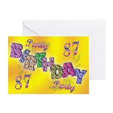 87th Birthday party invitation Greeting Card
