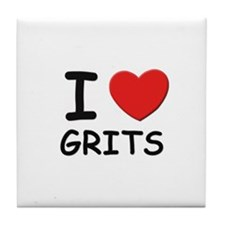 I love grits Tile Coaster