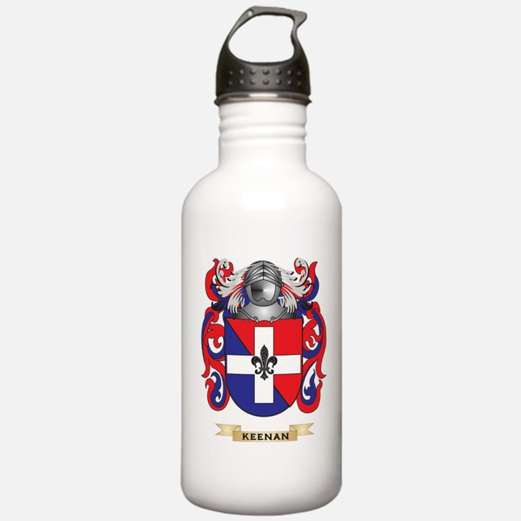 Keenan Coat of Arms (Family Crest) Water Bottle