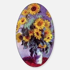 Bouquet of Sunflowers by Claude Mon Sticker (Oval)