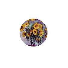 Bouquet of Sunflowers by Claude Monet Mini Button