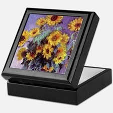 Bouquet of Sunflowers by Claude Monet Keepsake Box