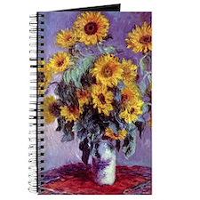 Bouquet of Sunflowers by Claude Monet Journal