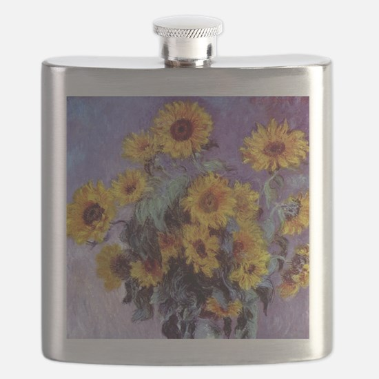 Bouquet of Sunflowers by Claude Monet Flask
