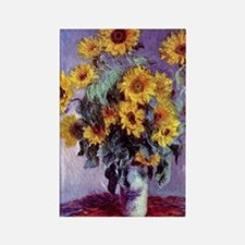 Bouquet of Sunflowers by Claude M Rectangle Magnet