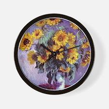 Bouquet of Sunflowers by Claude Monet Wall Clock