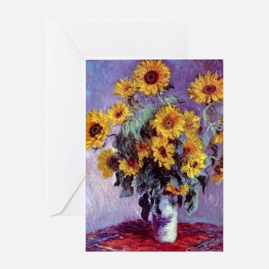 Bouquet of Sunflowers by Claude Mone Greeting Card