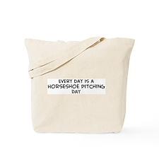 Horseshoe Pitching day Tote Bag