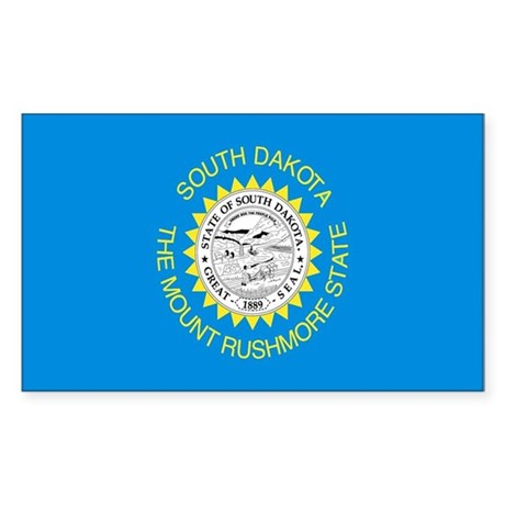 South Dakota Flag Rectangle Sticker