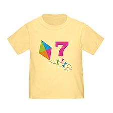 7th Birthday Kite Number 7 T
