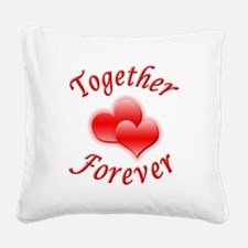 Together Forever Square Canvas Pillow