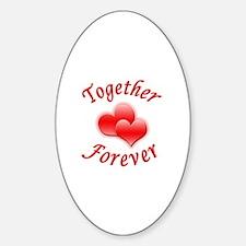 Together Forever Sticker (Oval)