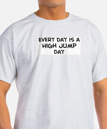High Jump day Ash Grey T-Shirt