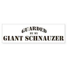 Giant Schnauzer: Guarded by Bumper Bumper Sticker