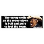 Rodeo Clown Bumper Sticker