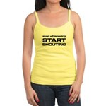 Stop Whispering - black Tank Top