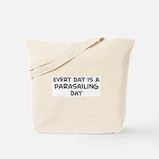 Parasailing day Tote Bag